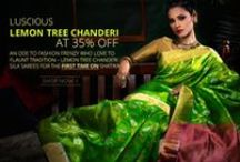 Lemon Tree Chanderi Sarees / There is an ever growing demand for Chanderi silk sarees in the recent past changing the lives of the entire weaving community there.