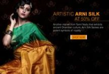 Arni Silk Sarees / Known as Aranyam in olden days meaning forest, Arni located in the district of Thiruvannamalai, 132 kms to the West of Chennai is one of the most important silk centers of Tamil Nadu. The region that was once fully surrounded by Athi trees which has various applications in Ayurveda medicine is mainly renowned for its silk-weaving community along with Paddy and Rice Business.