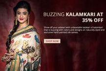 Hand-painted Kalamkari Silk sarees