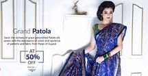 Patola Silk Sarees / #Patolasarees are ultimately extremely pleasing on the eyes and makes a prized possession for the owner.