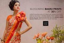 Bagru Print Silk Cotton Sarees