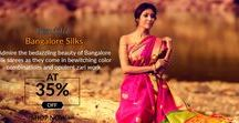 Bangalore Silk Sarees / Bubbling with colors and dazzling with radiance of zari work, Bangalore silk sarees
