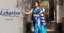 Lehariya Sarees / It's amazing how simple geometric slanting lines called #lehariya can edify the beauty a #saree for numerous years