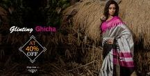 Ghicha Sarees / Naturally dyed with simplistic patterns and a natural sheen, Geecha silk sarees have an aura of sophistication around them.