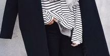 F A S H I O N : monochrome / Black, white & grey monochrome fashion styles