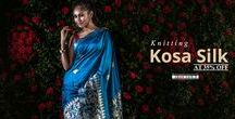 Hand Woven Kosa Silk Sarees / Exclusive and rare, #handwoven #KosaSilkSarees are launched at 35% off! Take your favourite pick before its gone!