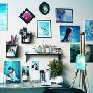 Art Studio Ideas / Art studio ideas, work space, workstation, art room inspiration. Organization. Gallery wall.