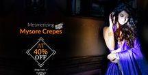Mysore Crepe Silk Sarees / You are invited to view Newly Launched Mysore Crepe Sarees, launched at 40% discount!