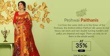 Peshwai Paithani Silk Sarees / The Royalty Arrives - Six Selective Peshwai Paithani Silks Launched at Shatika Today!