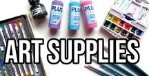 Art Supplies for Painting and Drawing / Art supplies for painting and drawings. Art supply tips and a list of art supplies I use for acrylic, watercolor and oil painting as well as for pencil, charcoal and pastel drawing. Most of these are cheap art supplies that work for beginners. I'll include links, where you can directly shop for these items as well as links to blog posts and videos on how to use them. Some of the product links are affiliate links.