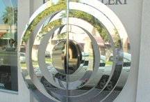 Concentric Circles / Concentric Circles are made from stainless steel, and can be rotated around the central pole although they do not move in the wind. This one stands at around 6ft, although they can be custom built if required.