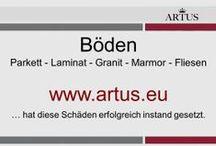 """Böden: Parkett - Laminat - Granit - Marmor - Fliesen www.artus.eu / Unser Grundsatz lautet """"Instandsetzung statt Austausch"""" und stellt die nachhaltigste Form der Reklamationsbehebung dar."""