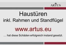 """Haustüren inkl. Rahmen und Standflügel www.artus.eu / Unser Grundsatz lautet """"Instandsetzung statt Austausch"""" und stellt die nachhaltigste Form der Reklamationsbehebung dar."""