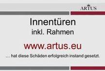 """Innentüren inkl. Rahmen www.artus.eu / Unser Grundsatz lautet """"Instandsetzung statt Austausch"""" und stellt die nachhaltigste Form der Reklamationsbehebung dar."""