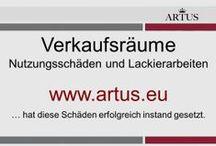 """Verkaufsräume: Nutzungsschäden und Lackierarbeiten www.artus.eu / Unser Grundsatz lautet """"Instandsetzung statt Austausch"""" und stellt die nachhaltigste Form der Reklamationsbehebung dar."""