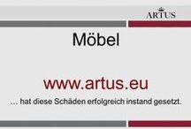 """Möbel  www.artus.eu / Unser Grundsatz lautet """"Instandsetzung statt Austausch"""" und stellt die nachhaltigste Form der Reklamationsbehebung dar."""