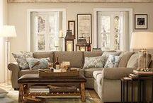 Inspiration: Living Room / Cozy cottage decor