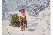 Christmas. Jul. Norwegian. / Tradisjonell jul. Gamle Julekort. Tradisjonelt norsk. Julemat. Tradisjonsmat.