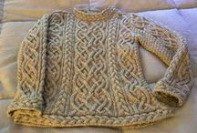 Knitting - Strikking / Knitted clothes and things. Strikkede klær og tilbehør.
