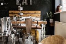 Industrial Inspiration / Industrial is my new craze! Sharing a combination of industrial, vintage, and rustic home decor ideas.