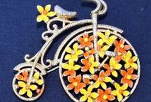 Figural Fun / Figural jewelry - fish, birds, flowers, objects, bugs -- and especially cats that misbehave!