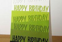 Geburtstag / Geburtstagskarten