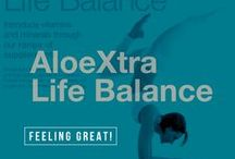 AloeXtra Life Balance / Benefit from the most potent formulas and high quality ingredients available in Forever's supplement collection, designed to give you the ultimate sense of wellbeing. Please visit www.aloextra.flp.com. Thank you.