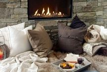 HOMES - Cosy & Rustic / My home inspiration board. Cosy and rustic. Cottage, cabin, african and french flavors. Lots of wood, weaves, comfy furniture, linens, pillows and carpets.