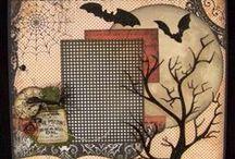 Fall & Halloween Scrapbook Layouts