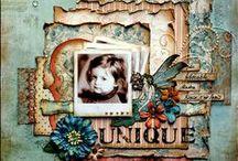 Little Girl Scrapbook Layouts
