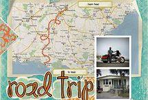 Vacation & Travel Scrapbook Layouts