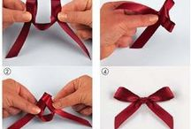 Bow tying/wrapping/paper crafts