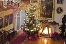 Britain at Christmas / Traditional festive decorations and Christmas scenes - with British twist