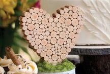 Rustic Wood Wedding Decor / Wood wedding decorations for rustic theme wedding.