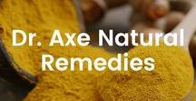 Dr. Axe Natural Remedies / A board listing many different common diseases and the natural protocol steps I would take to combat them.