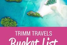Trimm Travels: Bucket List / Trimm Travels top bucket list destinations from around the world – Travel, Food and Photography Blog