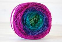 Kate Loves Colorful Yarn / I can't weave, knit, or crochet.  But I LOVE color and find the uniqueness of hand spun, hand painted and creative yarn beautiful.  chunky yarn, soft colored yarn, bright colored yarn, hand spun colored yarn