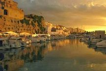 Azul. Islas Menorca / Isla del Mediterraneo,,,, Sueño del viajero.... Paraíso terrenal,,, Leyendas y tradiciones pueblan tus calles y calas,,,, Cada día es perfecto y único en la perla más natural de Europa...