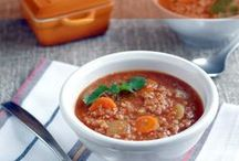 Soup, Chili and Stews - A Souper Collection of Recipes / Sometimes all you need is heart warming pot of soup or stew. Enjoy this collection of recipes featuring garbanzo beans, lentils and split peas.