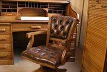 Traditional Leather Desk Chairs / Traditional leather study office chairs