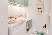 Laundry room | Interior inspiration / To do the laundry is hard work but it can be so much nicer with a lovely laundry room.  Die Wäsche zu machen ist ein harter Job - eine gemütliche Waschküche macht ihn uns leichter.