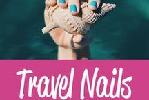 Travel Nails Inspiration / Travel inspired nail art designs