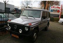 Mercedes-Benz 300 GD G-Klasse / MB 300 GD G-Klasse - Type:300GD automaat belastingvrij Inrichting:Overig (5 drs) Vermogen motor:113 PK Aantal cilinders:5 Bouwjaar: november 1982 Kleur:Zilver Designo (licht grijs metallic) Brandstof:Diesel Versnellingsbak: Automaat Km. stand:36.000 km Cilinderinhoud:2.996 cc Gewicht (leeg):2.060 kg BTW/Marge:Marge Prijs: € 23.500