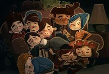 Mystery kids / Gravity falls, paranorman, coraline, the boxtrolls and over the garden walls!