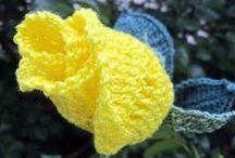 Háčkované květiny - Flower crochet