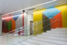 Sol LeWitt / Sol LeWitt helped formulate the tenets of a burgeoning conceptual art movement in the 1960s. He argued that the concept behind a work of art was more important than its execution.  Both LeWitt works in the Landmarks' collection were fabricated by a group of artisans. The works are located within and outside the GDC building at The University of Texas at Austin. GPS: lon: -97.736864 lat: 30.286264