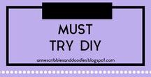 Must Try DIY | Anne's Scribbles and Doodles / Fashion, Beauty and Costume Related DIYs