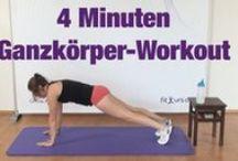 Fitnessvideos / Fitnessvideos mit effektiven Übungen für zu Hause. Ganzkörpertraining ohne Geräte, Kräftigung, Yoga, Pilates, Rücken, Stretching u.v.m.