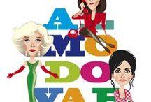 Chicas Almodóvar / Ilustraciones inspiradas en los personajes femeninos de los films de Pedro Almodóvar.