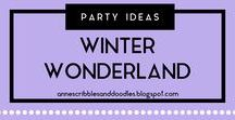 Party Ideas {Winter Wonderland} | Anne's Scribbles and Doodles / Winter Themed Christmas Party DIYs, Decors, Recipes and Inspirations